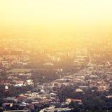 Винтажное фото города Таиланда Чиангмая стоковое изображение rf
