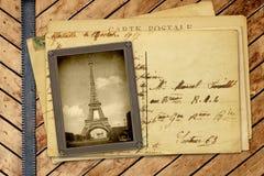 Винтажное фото и открытка Стоковое Изображение RF