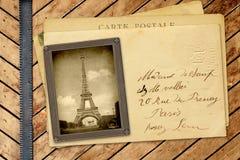 Винтажное фото и открытка Стоковое Изображение