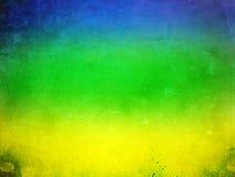 Винтажное фото флага и футбольного мяча Бразилии Стоковое Изображение RF