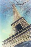 Винтажное фото Эйфелева башни стоковая фотография rf