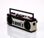 Винтажное boombox на белой предпосылке Стоковые Фотографии RF