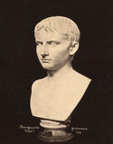 Винтажное giovane Augusto фото в музее 1890 Ватикана Стоковое Изображение