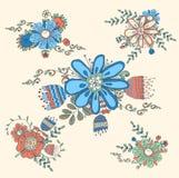 Винтажное handdrawn флористическое Стоковые Фотографии RF