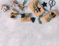 Винтажное handmade рождество ремесла стоковое фото