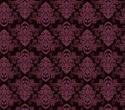 Винтажное nouveau искусства штофа обоев стиля орнаментирует предпосылку элементов флористического дизайна безшовной покрашенную т Стоковые Изображения RF