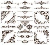 Винтажное nouveau искусства штофа обоев стиля орнаментирует предпосылку элементов флористического дизайна безшовной покрашенную т Стоковые Изображения