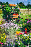 Винтажное wain украшенное с зацветая цветками Стоковая Фотография