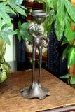 Винтажной введенный в моду лягушкой держатель ручки свечи металла Стоковое Изображение