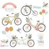 Винтажной велосипед нарисованный рукой иллюстрация вектора