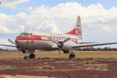 Винтажные авиалайнер пассажира авиакомпаний Convair 240 западный Стоковые Изображения