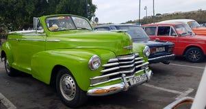 Винтажные автомобили в Гаване Кубе Стоковое Изображение RF