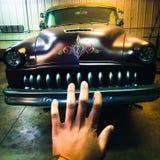 Винтажные автомобили на ноче Стоковое Изображение