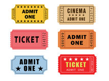 Винтажные билеты театра Стоковое Изображение