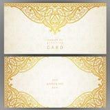 Винтажные богато украшенные карточки в восточном стиле Стоковое Изображение