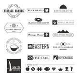 Винтажные бренды и элементы логотипа Стоковые Фотографии RF