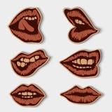Винтажные бумажные губы Стоковая Фотография