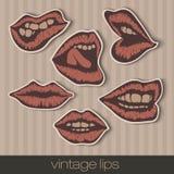 Винтажные бумажные губы Стоковые Фото