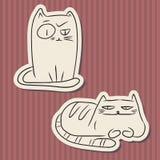 Винтажные бумажные смешные коты Стоковая Фотография
