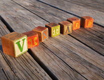 Винтажные блоки алфавита Стоковые Изображения RF