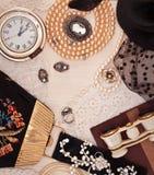 Винтажные вещи дам Стоковая Фотография