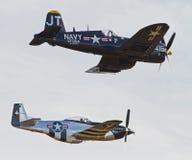 Винтажные воздушные судн Второй Мировой Войны Стоковые Изображения