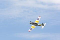Винтажные воздушные судн тренера De Havilland Сибирский бурундук Стоковые Изображения RF