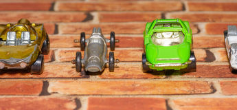 Винтажные гоночные машины игрушки Стоковые Изображения RF