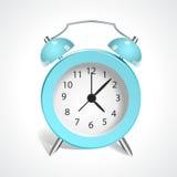 Винтажные голубые часы Стоковое Фото