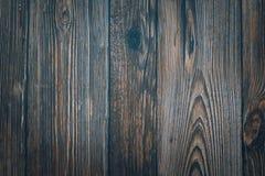 Винтажные деревянные темно-синие горизонтальные доски Вид спереди   стоковые фотографии rf
