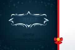 Винтажные декоративные элементы в стиле зимы Комплект рамок нарисованных рукой с снегом, сосулек в квартире Значки для карточек,  Стоковые Изображения