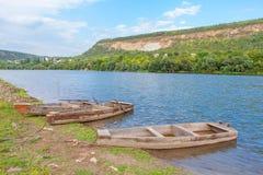 Винтажные деревянные шлюпки Стоковое Фото