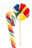 Винтажные леденцы на палочке на белизне Стоковая Фотография RF