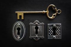 Винтажные замки и ключ Стоковые Фотографии RF