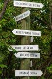Винтажные знаки перемещения назначения стрелки Стоковая Фотография