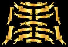 Винтажные знамена ленты Стоковые Изображения RF