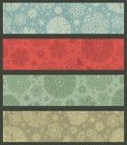 Винтажные знамена рождества цвета, вектор иллюстрация штока