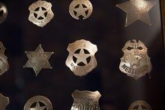 Винтажные значки полиции Стоковые Изображения