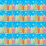 Винтажные здания безшовные Стоковая Фотография RF