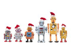 Винтажные игрушки робота олова Стоковая Фотография RF