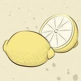 Винтажные лимоны стиля Стоковое Изображение