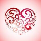 Винтажные линии сердца Стоковые Фото