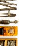 Винтажные инструменты деятельности (коробка с сверлами и другими Стоковая Фотография RF