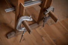Винтажные инструменты ` s плотника Стоковые Фотографии RF