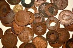 Винтажные индийские монетки стоковое изображение rf