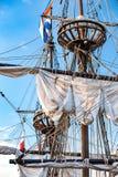 Винтажные и ретро детали старых парусников во время кануна ветрила Стоковое Изображение
