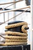 Винтажные и ретро детали старых парусников во время кануна ветрила Стоковая Фотография RF