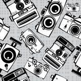 Винтажные камеры фото фильма безшовные Стоковые Изображения RF