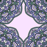 Винтажные карточки с безшовной картиной иллюстрация вектора