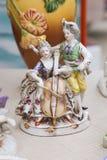 Винтажные керамические Figurines людей, Outdoors Стоковые Фотографии RF